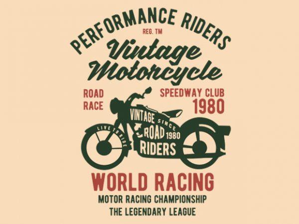 Vintage Motorcycle t-shirt design