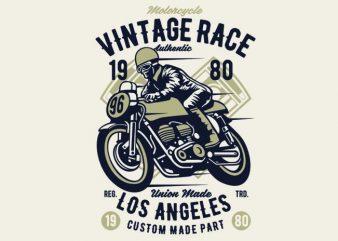 Vintage Race t-shirt design