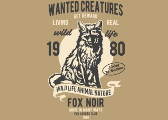 Wanted Creature t-shirt design