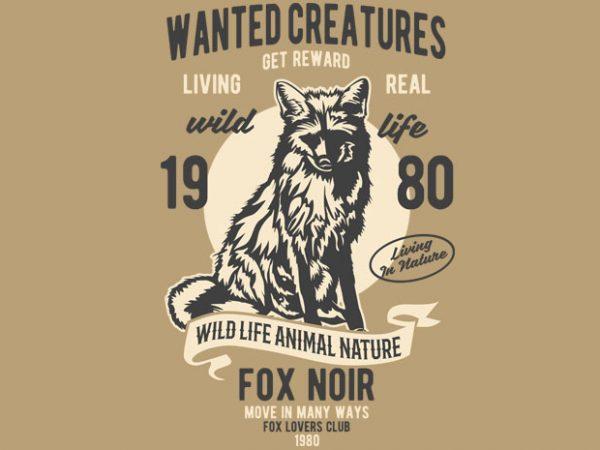 Wanted Creature t-shirt design