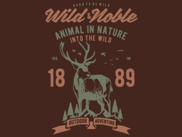 Wild And Noble t-shirt design