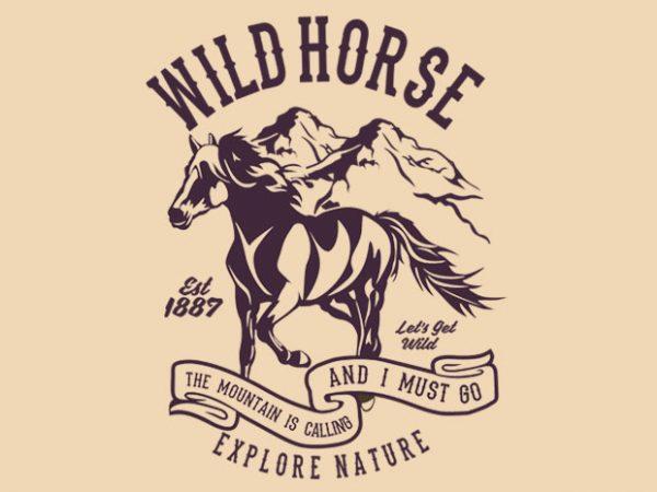 Wild Horse t-shirt design