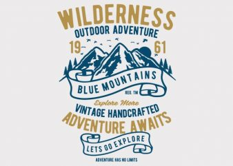 Wilderness t-shirt design