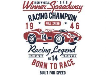 Winner Speedway t-shirt design