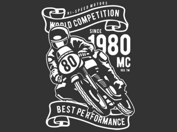 World Competition Superbike t shirt design for sale