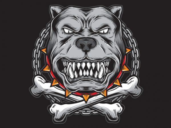 PITBULL t shirt illustration