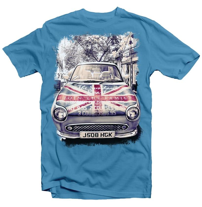 London Car t-shirt designs for merch by amazon