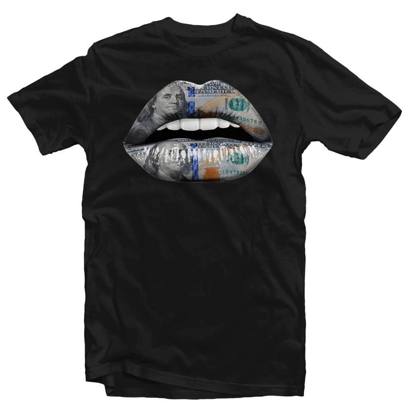 Dollar Lips tshirt design for merch by amazon