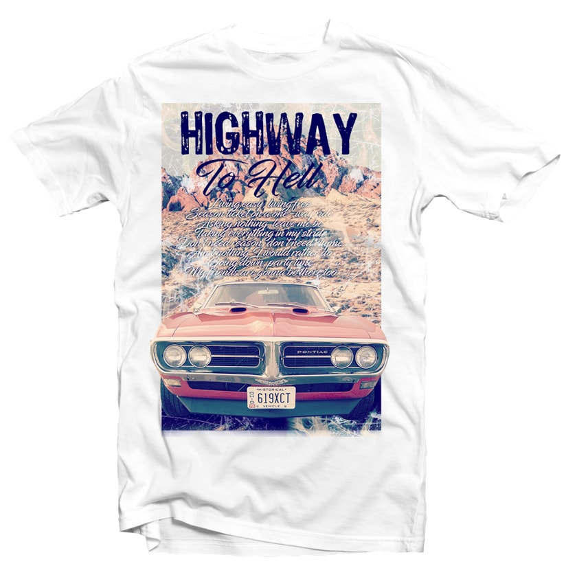 Highway to Hell t shirt design png