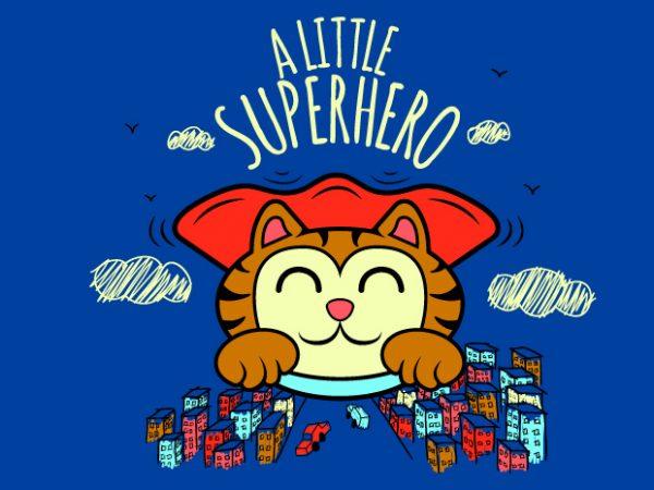 a little superhero t shirt vector