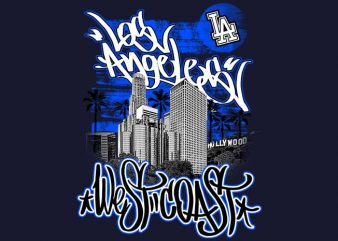 Los Angeles t shirt vector graphic