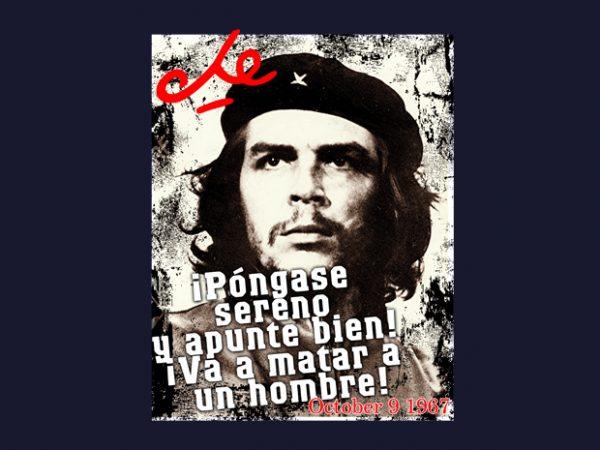 Che Guevara t shirt vector file