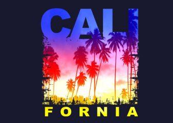 California t shirt vector file