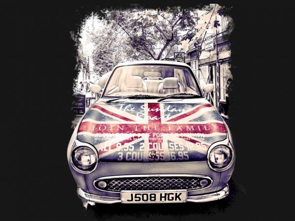 London Car t-shirt design for sale