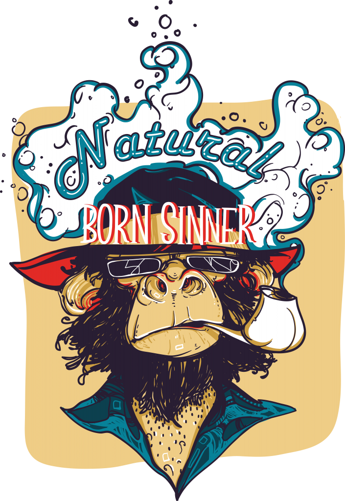 Natural born sinner t shirt designs for printify