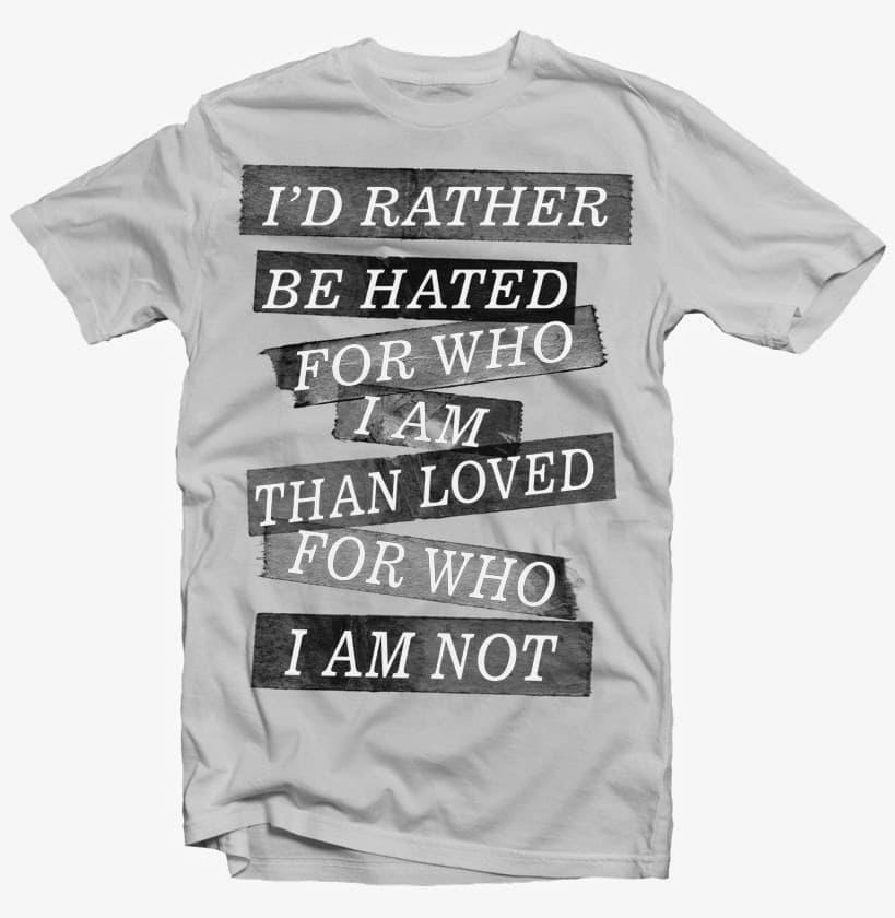 who i am t shirt design png