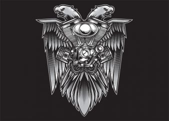 Speed Eagle t shirt template vector