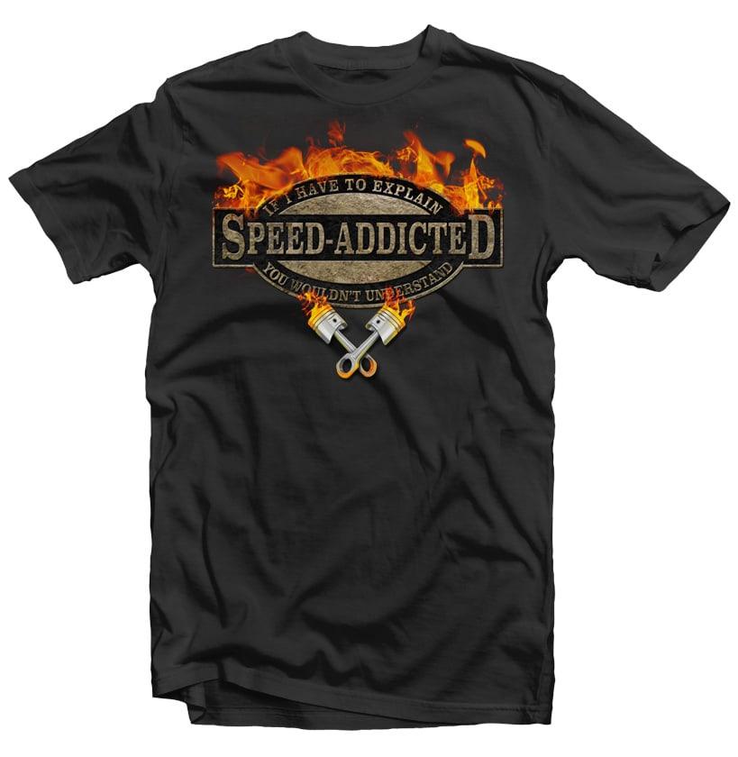 Speed Addicted buy tshirt design