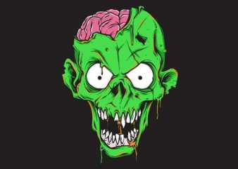 zombie tshirt design for sale