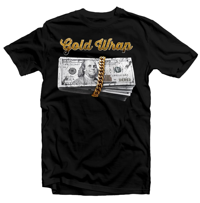 Gold Wrap vector t shirt design