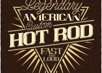 Hot Rod print ready shirt design