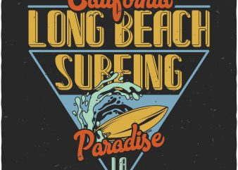 California Surfing t shirt vector file
