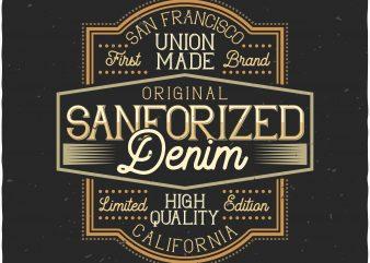Denim label print ready shirt design