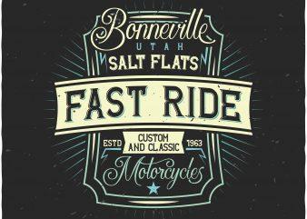 Motorcycles label vector t shirt design artwork
