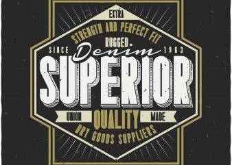 Denim label vector t-shirt design