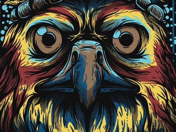 Mighty Eagle vector t shirt design artwork