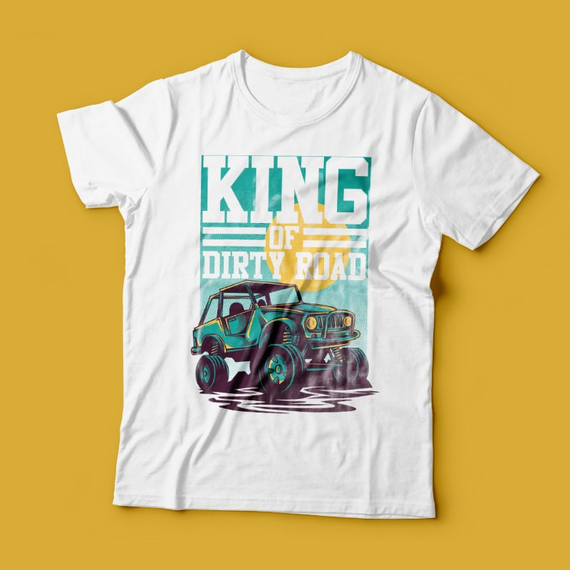 King of Road tshirt design for merch by amazon