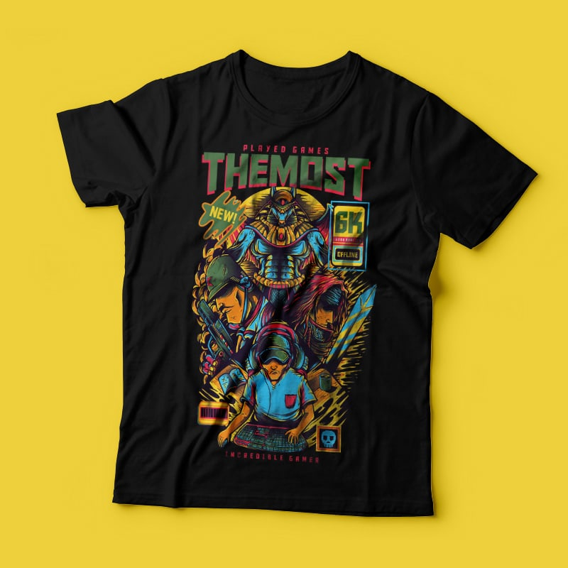 The Most Played Game commercial use t shirt designs