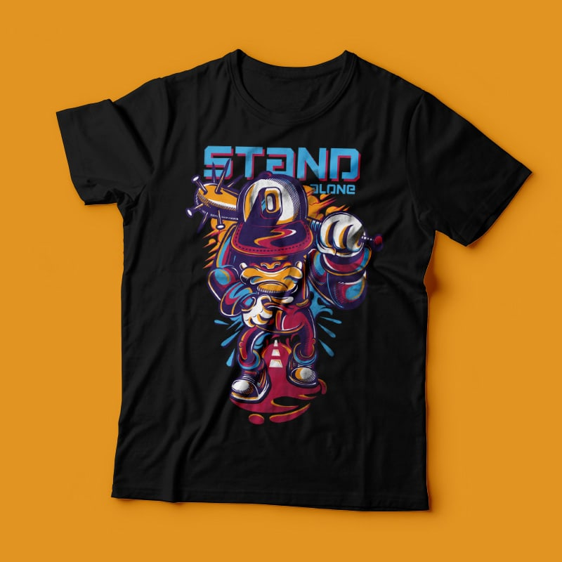 Stand Alone vector t shirt design