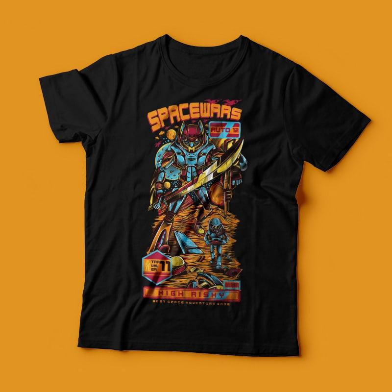 Spacewars vector t shirt design