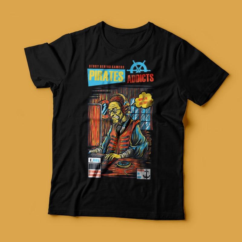 Pirates Addicts tshirt-factory.com
