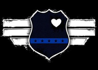 Captain The Blue Officer tshirt design vector