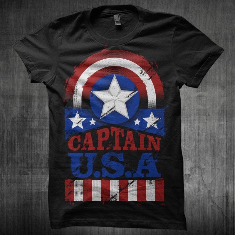 The Captain U.S.A buy t shirt design