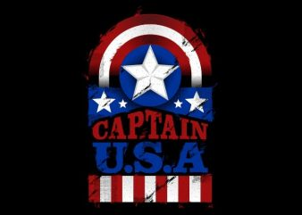 The Captain U.S.A t shirt designs for sale