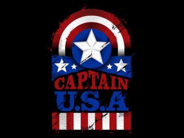 The Captain U.S.A t shirt design to buy