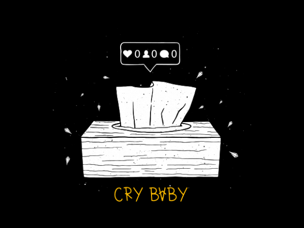 Cry baby t shirt vector file