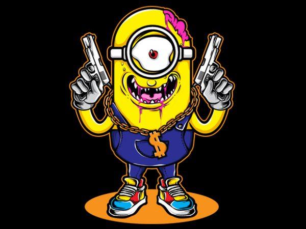 Little Gangster t shirt vector graphic