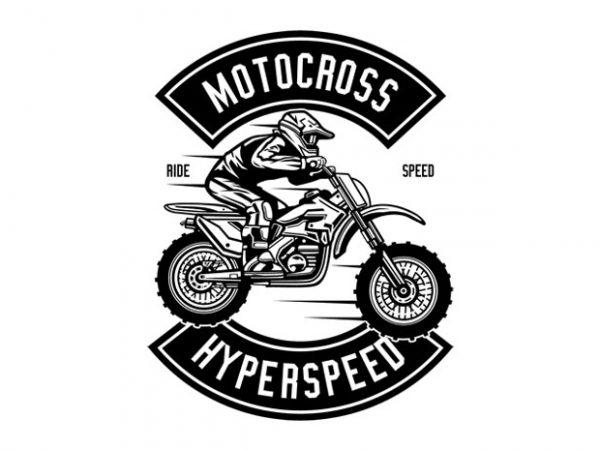 Motocross Hyperspeed t shirt designs for sale