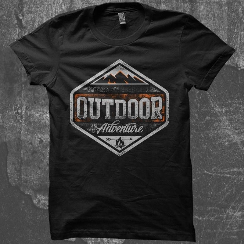 Outdoor Adventure tshirt design for merch by amazon