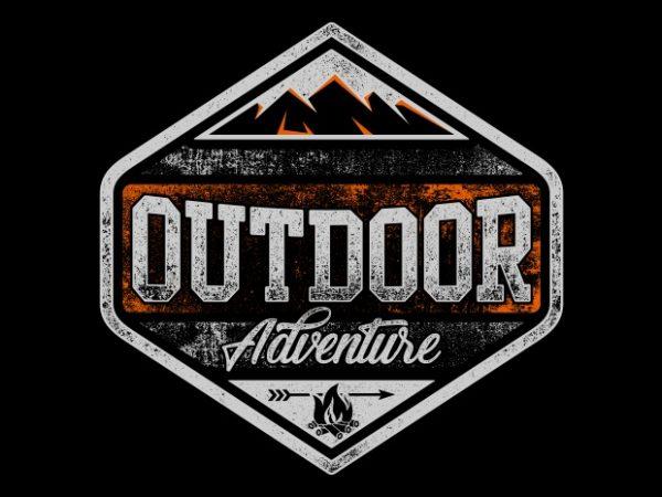 Outdoor Adventure t shirt design to buy
