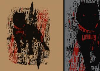 Pit Bull Trash Tshirt Design