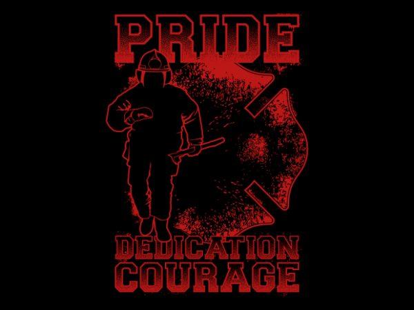 Pride Firefighter t shirt illustration