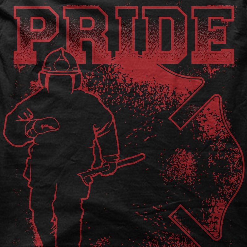 Pride Firefighter t shirt design graphic