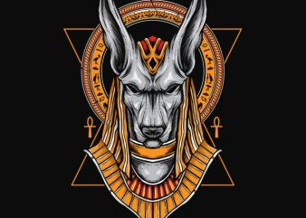 Anubis vector t shirt design artwork