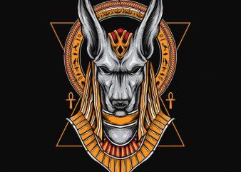 Anubis t shirt vector
