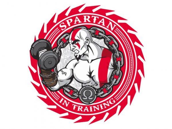 Spartan In Training vector shirt design